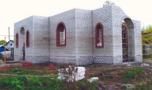 Строящийся храм в честь Святой Троицы