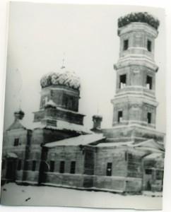 Разрушенный храм во имя Живоначальной